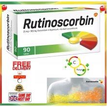 Rutinoscorbin 90 Tabs Immune Booster Vitamin C Rutozyd Blood Vessels