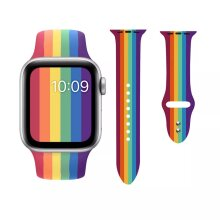 For Apple Watch 44mm & 42mm - Gay Pride Rainbow Sport Band Strap Series 5 4 3 2 1