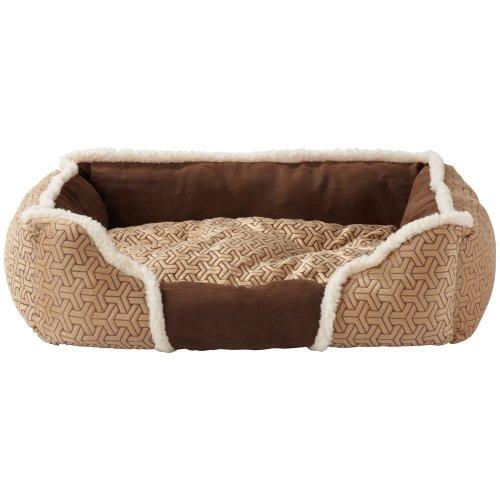 (Small, Cream) Bunty Kensington Dog Bed | Fleece Pet Bed