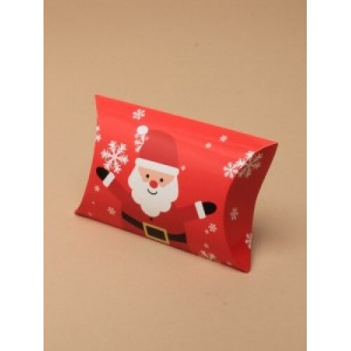 (Santa, 6.8x6.8x2.5 cms) Christmas Gift Box Pillow Pack Bag Present Wrapping Gift Wrap