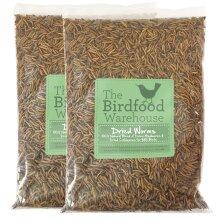 Norfolk Feeds Dried Worms 10ltr Refill - Mealworm & Calciworm, Bird Food