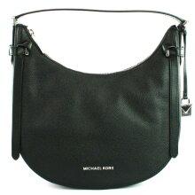 Michael Kors Hobo Shoulder Bag Black Medium Cassie Leather Handbag