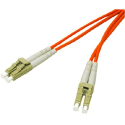 10m LC/LC Duplex 62.5/125 Multimode Fiber Patch Cable with LC Clips - Orange