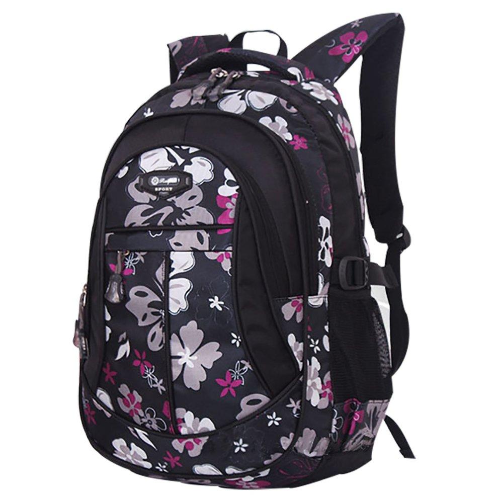 Sellerfun fille Géométrique Imprimé primaire Junior High University School Bag