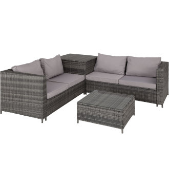 Rattan garden furniture lounge Siena -