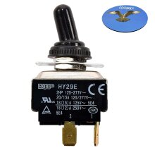 HQRP 4-Pin Toggle Switch compatible with HY29E ON-OFF Steampunk Applications, Lamp, Trailer Restorations, DIY Projects + HQRP Coaster