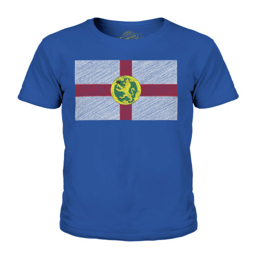 Candymix - Alderney Scribble Flag - Unisex Kid's T-Shirt
