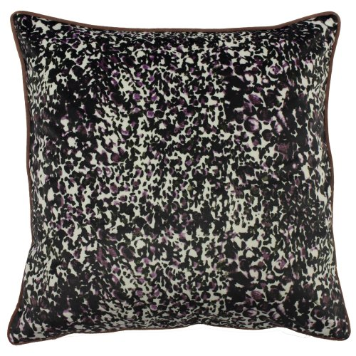 (One Size, Rose/Green) Mika Cushion Cover with Reversible Colours