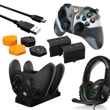 Premium Player Pack 6-in-1 Bundle for Xbox One with Headset, Charger