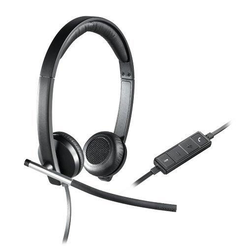 Logitech H650e Binaural Head-band Black,Silver headset