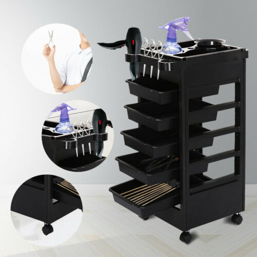 Salon Hairdresser Barber Beauty Storage Trolley Hair Drawers Colouring