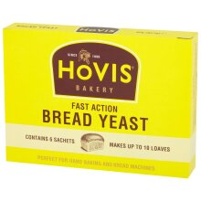 Hovis Fast Action Dried Bread Yeast - 10x6x7g