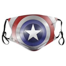 Superhero Captain America Face Masks for Adult Youth Reusable