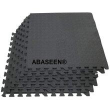 Abaseen 48 sq.ft Interlocking Eva Foam Floor Mats Dark Grey