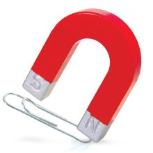 Novlety Horseshoe Shaped Magnet - Red Attraction Educational Science Children - Red Horseshoe Magnet Attraction Educational Science Children