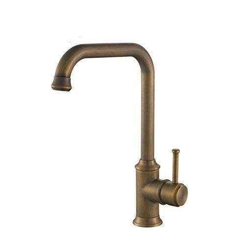 Hiendure® Antique Brass Finished Antique Kitchen Sink Tap with Swivel Spout