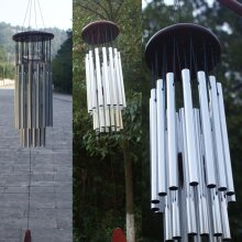 Large 27 Tubes Wind Chimes Outdoor Garden Home Decor Deep Tone Chapel Bells Hanging Ornament Windchime
