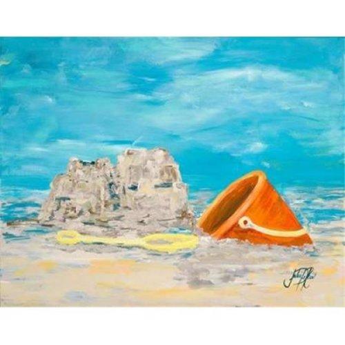 Sandcastles I Poster Print by Julie Derice, 22 x 28 - Large