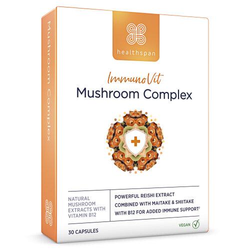 Immunity   ImmunoVit Mushroom Complex   Healthspan   30 Capsules