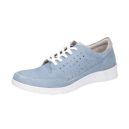 Hush Puppies Blue Lace Up Leather Shoes