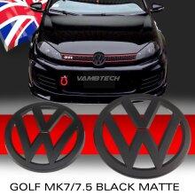 MODIFIX   VW GOLF MK7 BLACK MATTE FRONT & REAR BADGE EMBLEM VW GOLF 7 7.5 GTI TDI R GTD