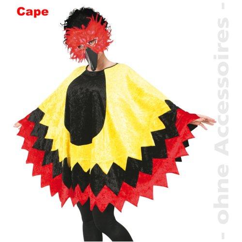 Bird feather costume Cape Vogel Cape chicken costume Size UNI