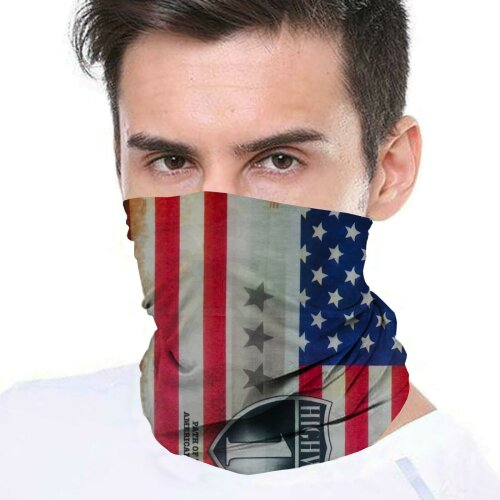 (American Eagle) Bandana Face Covering Mask Biker Tube Snood Scarf Neck Cover