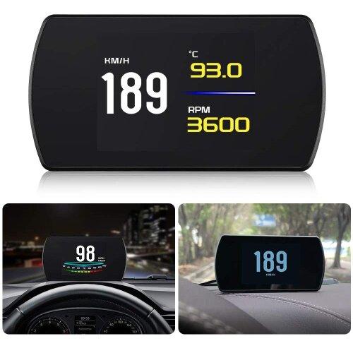 "4.3"" Display P12 Car Head Up Display OBD2 Digital OBD Gauge HUD Auto Diagnostic Tool Digital Meter TFT Display Multi-Function"