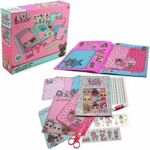 Kids Girls Lol Surprise Create Your Own Scrapbook Art & Craft Set