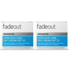 Fade Out Advanced Even Skin Tone Day Cream with SPF25 2 x 50ml -Face Cream With Niacinamide & Lactic Acid To Brighten Skin Tone In 4 weeks