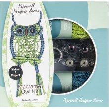 Pepperell Designer Macrame Owl Kit-