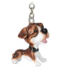 Little Paws Keyring -Staffy Standing