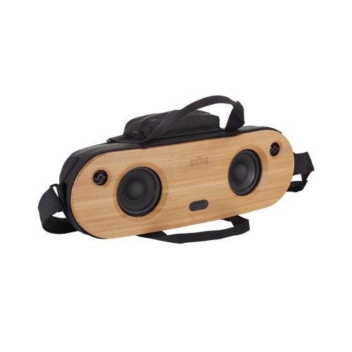 House of Marley Bag of Riddim 2 – Bluetooth Speaker Portable Bamboo Audio Sound System + REWIND Fabric Travel Bag, Faceplate, Aux-In, Easy Charge...