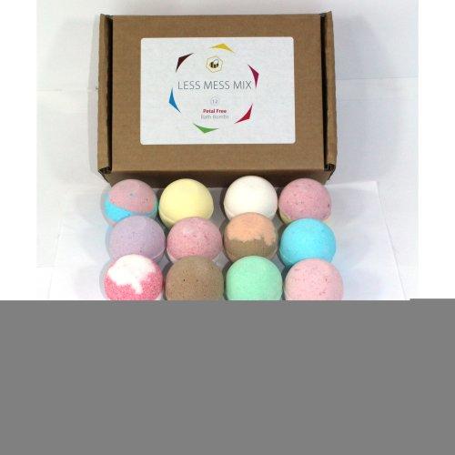 Less Mess Mix Bath Bombs reduced plastic petal free 12 x 65g