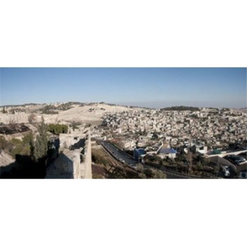 House on a hill  Mount of Olives  and City of David  Jerusalem  Israel Poster Print by  - 36 x 12