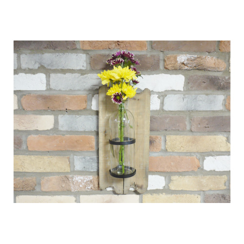 Wall Mounted Glass Flower Holder