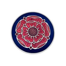 Tudor Rose Brooch Silver Plated Brand New Gift Packaging