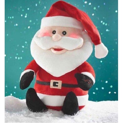 Singing Dancing Santa Claus Light Up Plush Toy Father Christmas Gift