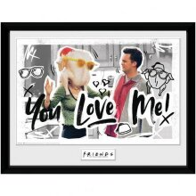 Friends You Love Me Framed Poster