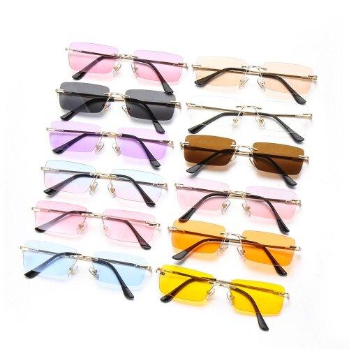 Fashion Rimless Sunglasses, Unisex Eyeglasses