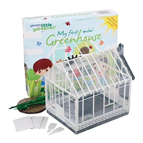 Mr Fothergills 14514 Flower Seeds, Little Gardeners Mini Greenhouse, Multicoloured