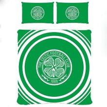 Celtic FC Official Double Duvet and Pillowcase Set Pulse Design