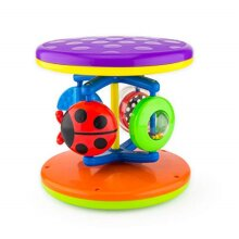 Sassy Fascination Roll Around Early Learning Toy Promotes STEM Learning crawling Toy Rolls and Spins Ages 6 Months Plus