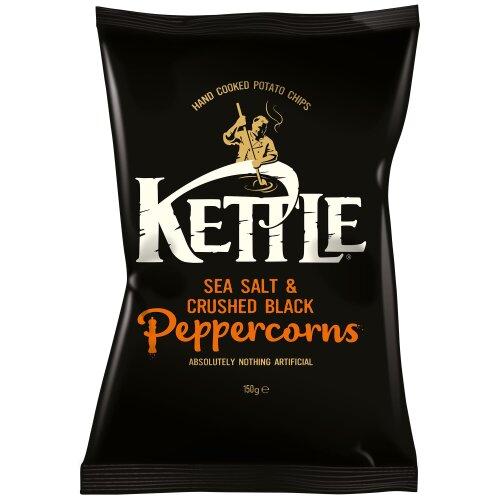 Kettle Sea Salt & Black Pepper Crisps - 12x150g