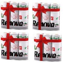 Renova White Print 2 Ply Christmas Xmas Toilet Tissue Paper Rolls (36 Rolls)