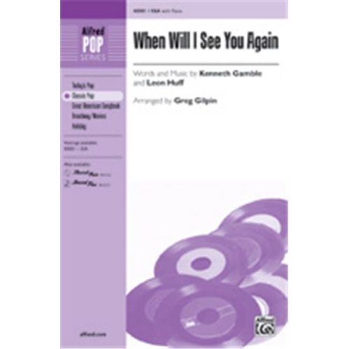 Alfred 00-40001 When Will I See You Again-Ssa Book