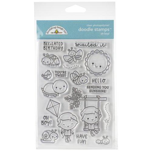 Doodlebug Clear Doodle Stamps-Oh! Boy