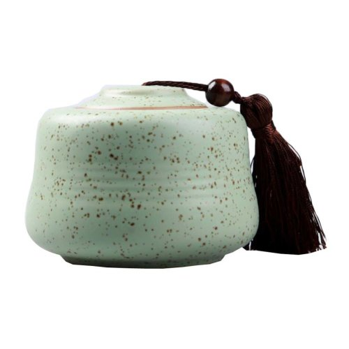 Ceramic Tea Storage Container Kitchen Storage Canister Jar for Candy Coffee - 9.5 x 12.5 cm/3.7 x 4.9 inches - 20