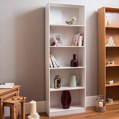 Home Discount Cambridge 5 Tier Bookcase   Wooden Shelving Unit
