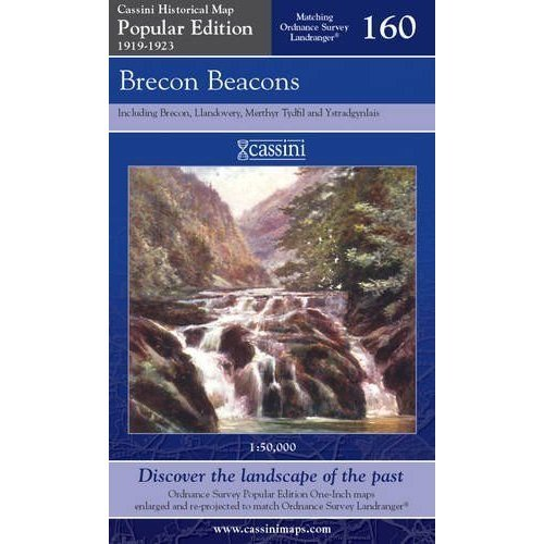 Popular Edition Historical Map No. 160 - Brecon Beacons 1919-1923 - Used